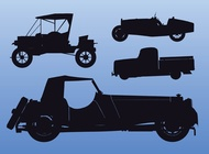 Link toOld car silhouettes vector free