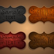 Link toOld leather labels design vector graphics 01 free