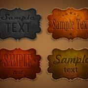 Link toOld leather labels design vector graphics 02 free