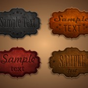 Link toOld leather labels design vector graphics 03 free