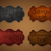 Link toOld leather labels design vector graphics 04 free