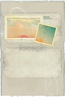 Link toOld paper effect retro cover stationery psd