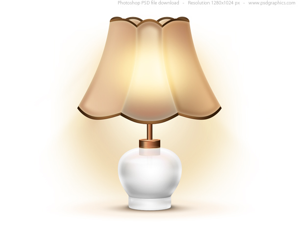 Link toOld table lamp icon (psd)