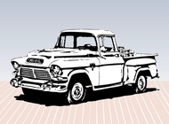 Old truck sketch vector free