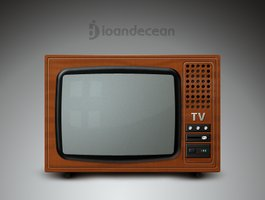 Link toOld tv icon - free psd