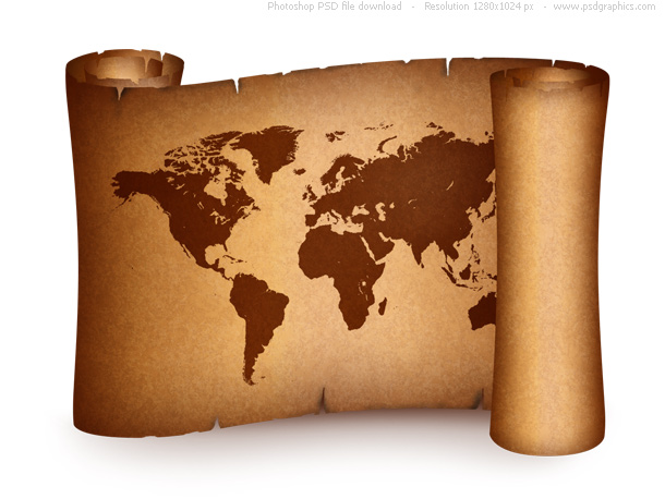 Old over millions vectors stock photos hd pictures psd icons old world map on vintage paper scroll psd gumiabroncs Gallery
