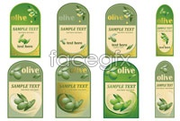 Link toOlive oil bottle stickers vector graphics