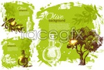 Link toOlive theme illustrations vector