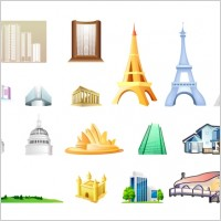 Link toOne of the building icon vector