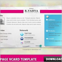 Link toOne page vcard template
