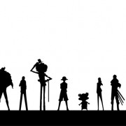 Link toOne piece character silhouettes vector free