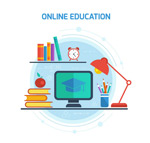Link toOnline education illustration vector