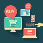 Link toOnline shopping elements vector