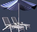 Link toOpen-air, beaches, parks chair 3d model