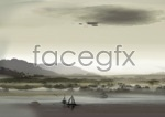Link toOpen-air landscape painting psd