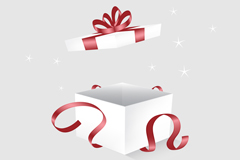 Link toOpen white gift box vector