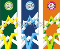 Link toOpening opening hanging flags malls design advertising vector graphics library
