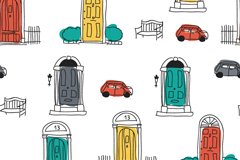 Link toOpening painting the doors and car background vector