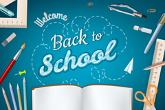 Opening welcome poster vector map