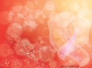 Link toOrange background hexagon design vector free