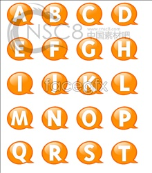 Link toOrange bubble letters desktop icons