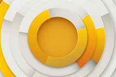 Link toOrange concentric circle vector background