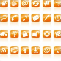 Link toOrange crystal style icon vector commonly used web