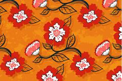 Link toOrange floral seamless background vector