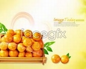 Orange fruit naturally psd