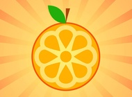Link toOrange icon vector free