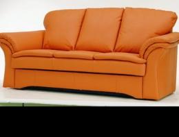 Link toOrange leather sofa 3d model
