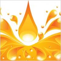 Link toOrange liquid background vector 4