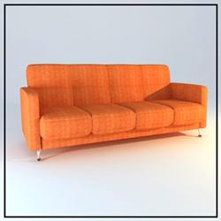 Link toOrange multiplayer cloth art sofa 3d models