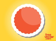 Link toOrange sticker graphics vector free