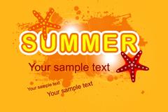 Link toOrange summer background vector