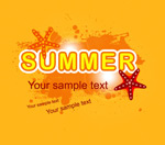 Link toOrange summer backgrounds vector