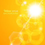 Link toOrange sunshine backgrounds vector