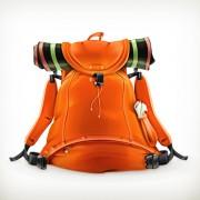 Link toOrange travel backpack vector free