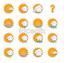 icons forecast weather Orange