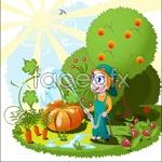 Link toOrchard cartoon vector