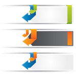 Link toOrigami arrow banner vector