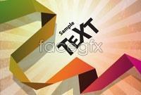 Link toOrigami background color art vector iv