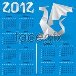 Link toOrigami dragon 2012 calendar vector