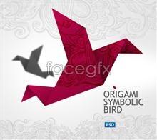 Link toOrigami paper cranes psd