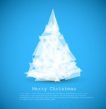 Link toOrigami-style christmas tree vector