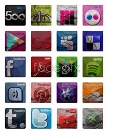 Link toOrigami style social media icons