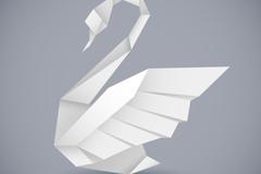Link toOrigami swan white vector