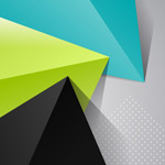 Link toOrigami triangle background vector