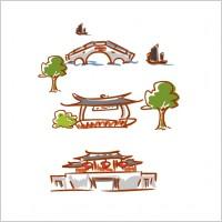 Link toOriginal handdrawn cartoon landscape elements