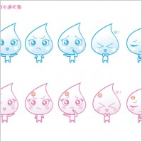 Link toOriginal happy little water droplets vector icons a